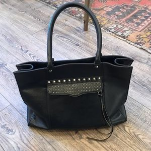 """Rebecca Minkoff"" Black Leather Purse"